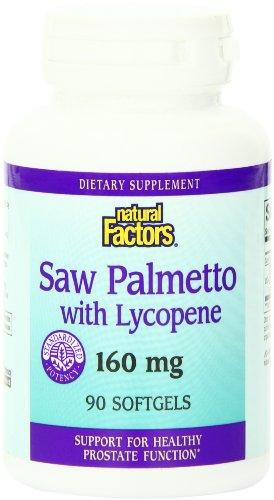 Природные факторы Saw Palmetto экстракт 160 мг капсул, 90-Count
