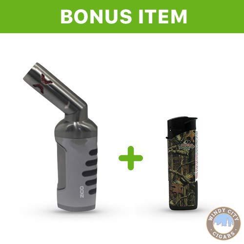 Zico ZD-51 (Original) Refillable Butane Quad Jet Torch Lighter (Gunmetal) & Free lgihter ()
