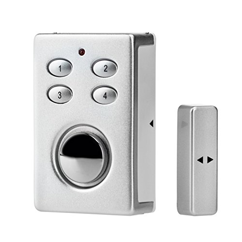 Wolfwhoop SP65S 2-In-1 Wireless Security Door Window Alarm With Solar Power Panel-Silver