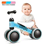 BABY JOY Baby Balance Bikes, Baby Bicycle, Children Walker Toddler Baby Ride Toys for 9-24 Months, Ride-on Toys Gifts Indoor Outdoor for 1 Year Old, No Pedal Infant 4 Wheels Bike (Blue)
