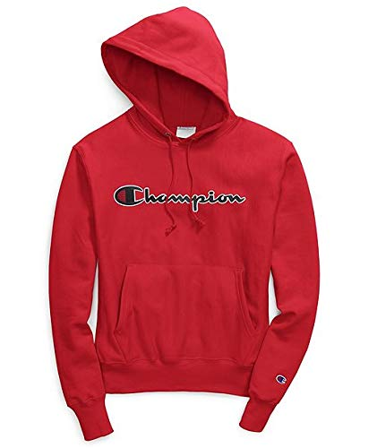 Champion Life Men's Reverse Weave Chainstitch Script Pullover Hoodie (Team Red Scarlet, XX-Large) ()