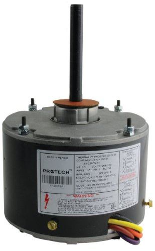 51-23055-11 - OEM Upgraded Rheem Condenser Fan Motor 1/5 HP 208-230 Volts 1075 RPM (Ac Condenser Fan Motor)