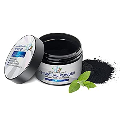 Activated Charcoal Teeth Whitening Powder Natural Organic Coconut Charcoal Powder,Teeth Whitener Charcoal Toothpaste for Teeth and Gums 2\Oz