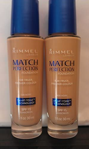 2-RIMMEL LONDON MATCH PERFECTION SPF 18 SUNSCREEN FOUNDATION LIGHT NUDE (PACK OF 2) by Rimmel: Amazon.es: Belleza