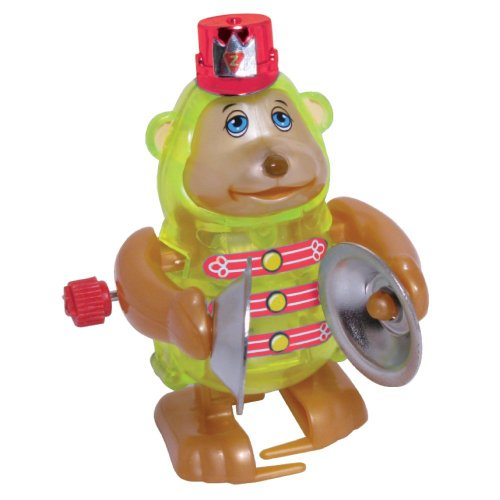 Monkey Wind Up Toy - Monkey Claps Cymbals And Walks In Circles - Unique Windup Features - 3 Inches -
