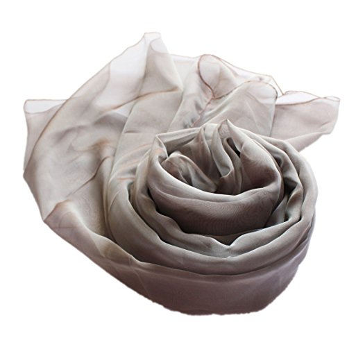 taffetas 40 XXL Colour iris Prettystern Soir Foulard Stola Femme Robe de soie du Bicolore pwaICq