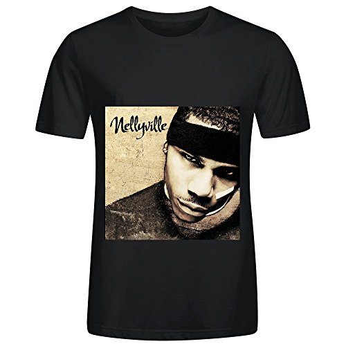 Nelly Nellyville Tour Jazz Men O Neck Short Sleeve Shirt Black (Medieval Dres)