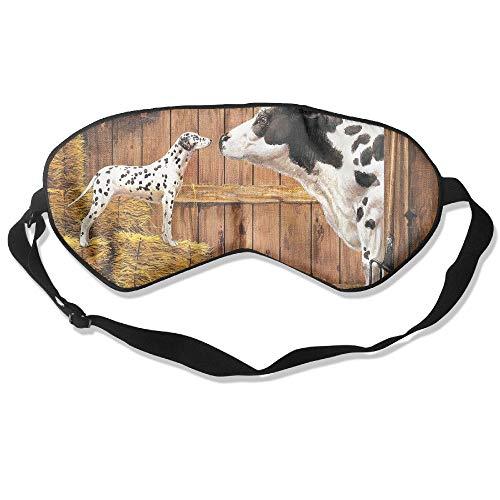 Goods Shops Mulberry Silk Sleeping Masks Farm Animals Cow Cat Hay Barn Dog Eyepatch Eye Masks Adjustable Sleeping Eye -