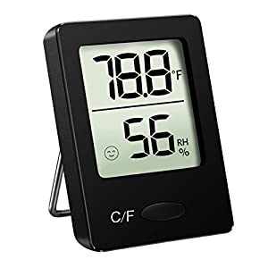 HoLife Hygrometer Thermometer,Thermometer and Humidity Gauge with Digital Temperature Gauge Wall Hanging Magnet for Bedroom Basement Babyroom