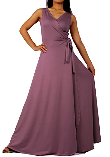 MayriDress Prom Dress Formal Evening Ball Gown Long Bridesmaid Maxi Wrap Graduation Party Sexy (3X-Long 57 Inch, Mauve Rose)