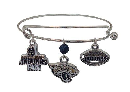 (NFL Jacksonville Jaguars Three Charm Logo Bracelet)