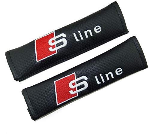 TGH Seat Belt Cover with logo S-Line (carbon fiber effect)