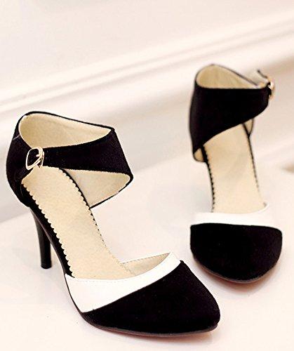 Tacco Nero Stiletto Pump Periodo Donne Di Scarpe Elegante Minetom Décolleté Scarpe Colore Scamosciato Con Alto Semplice Shoes xFIFYaqzwf