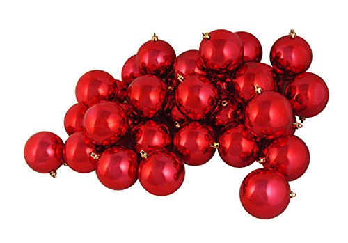 Shiny Red Ball Ornament - 1