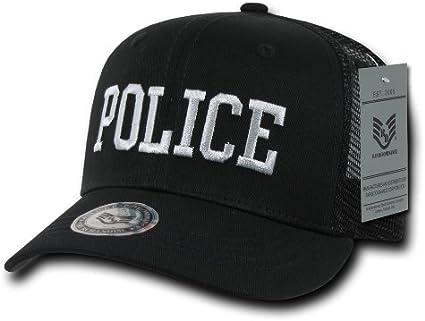 Black Police Officer Law Enforcement Cop Cotton Baseball Trucker Mesh Cap Hat