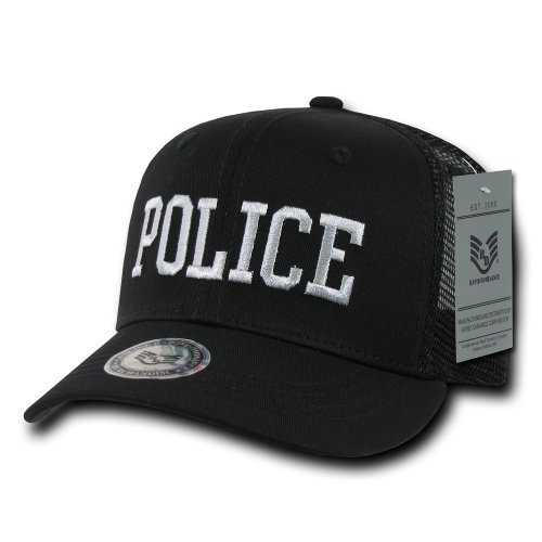 (Rapiddominance Police Back to The Basics Mesh Cap, Black)