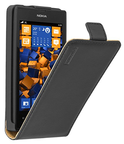 mumbi PREMIUM Leder Flip Case Nokia Lumia 520 Tasche