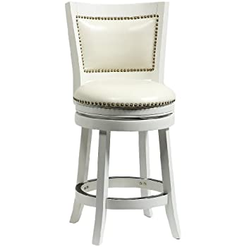 Boraam 42424 Bristol Counter Height Swivel Stool 24-Inch Distress White  sc 1 st  Amazon.com : counter height swivel stools - islam-shia.org