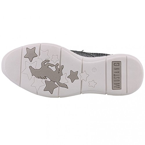 Mustang Damen Sneakers Silber/Grau (Metallic), Schuhgröße:EUR 40