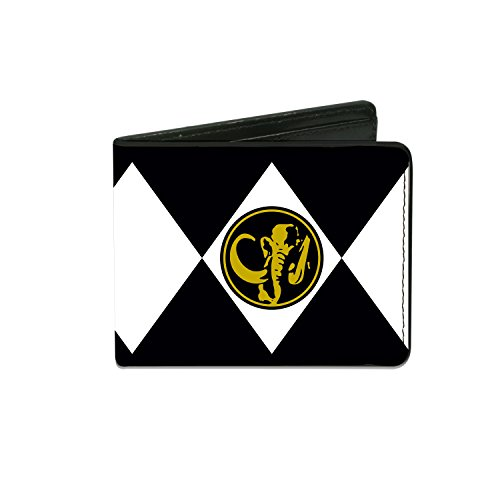 Power Rangers - Diamond Black Ranger Mastodon Power Logo - Bi-Fold Wallet (Mighty Morphin Power Rangers Logo)