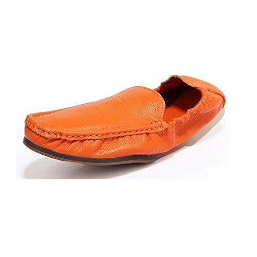 段落ちょっと待って遵守する[QIFENGDIANZI]メンズシューズ レースアップ カジュアルシューズ 紳士靴 滑り止め 快適な履き心地 通気性抜群 かっこいい お洒落 通勤用 黒 白 オレンジ ブルー