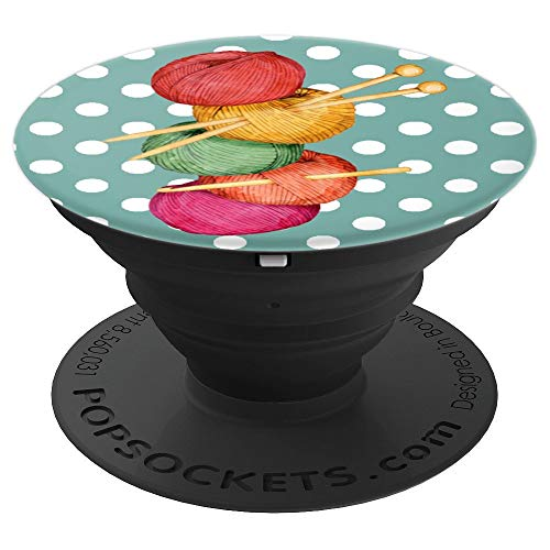 Knitting Crocheting Yarn Balls Knitter Crocheter - PopSockets Grip and Stand for Phones and Tablets