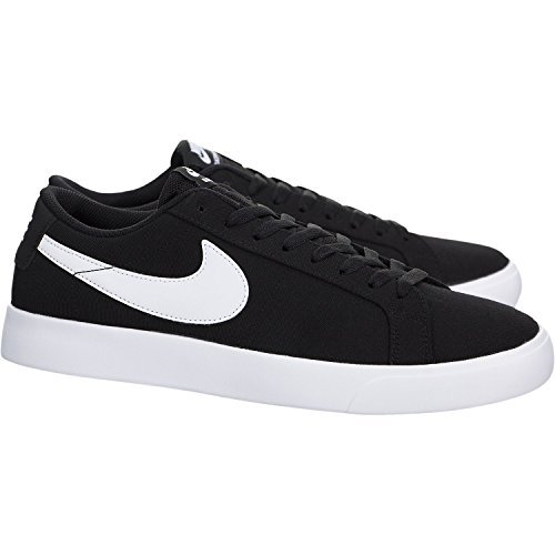 13d7ca7a1b0a3 Nike Men's Sb Blazer Vapor Txt Black/Black Skate Shoe Black/White
