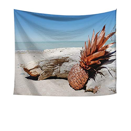 - Indoor Tapestry, pollyhb Pineapple under the Beach Sun Print Tapestry Wall Hanging Tapestries Art Room Home Decor Gift for Dorm Decor