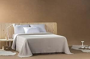 DECORACION NUEVO ESTILO- Plaid-Foulard Multiusos Espiga para Camas o sofás, tamaño 230 x 260, Color 08 Beige (Varias Medidas y Colores)