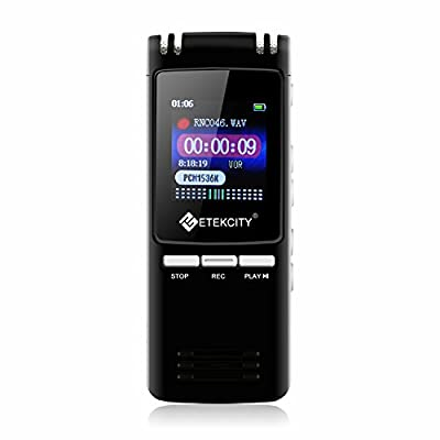 Etekcity Portable Rechargeable Voice Activated Digital Audio Recorder