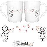 BOLDLOFT From My Heart to Yours His and Hers Matching Couple Coffee Mugs-Couple Mugs Set Anniversary Gifts for Her Wedding Anniversary Gifts for Her Gifts for Girlfriend Wife Gifts Couples Gifts
