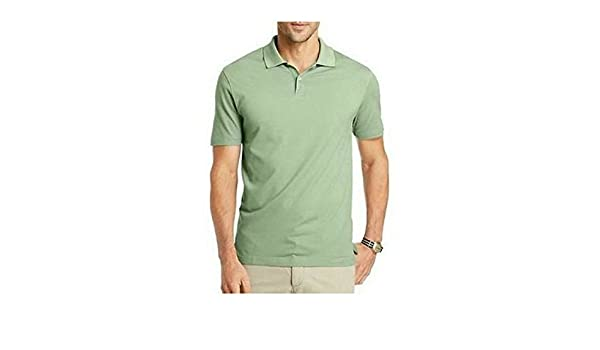 a48e7c1215d02 Van Heusen Mens Short Sleeve Interlock Polo Shirt at Amazon Men s Clothing  store