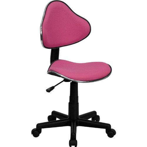 Chrome Accented Ergonomic Task Chair Pink price
