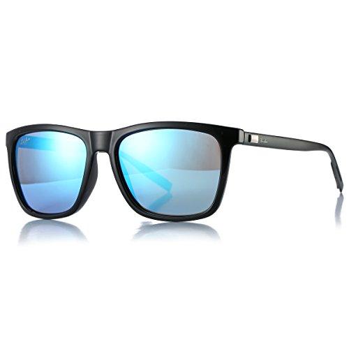 Pro Acme Hot Fashion Driving Polarized Sunglasses For Men Women Al-MG Metal Frame Ultra Light (Blue - Type Sunglasses Square