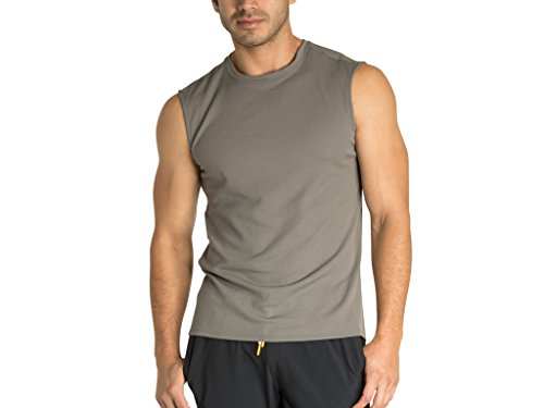 OLIVERS Apparel, Mens, Merino Wool Tech Mesh Terminal Sleeveless Shirt (Smoke, XL) (Sleeveless Tech Shirt)