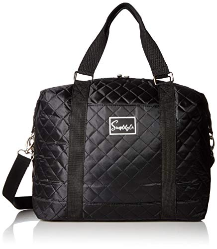 Quilted Trolley - Travel Weekender Overnight Carry-on Shoulder Duffel Tote Bag (8