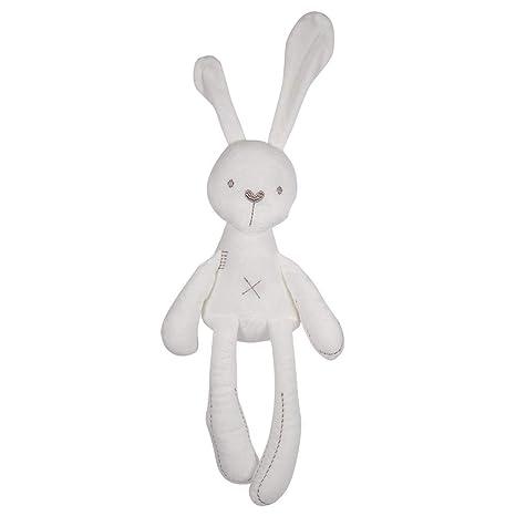 Conejo de peluche muñecas rellenas de dibujos animados lindo dormir conejito bebé de peluche muñecas de peluche animales juguetes regalo para bebés ...