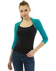 AmélieBoutik Women Long Sleeve Bolero Shrug Cropped Cardigan