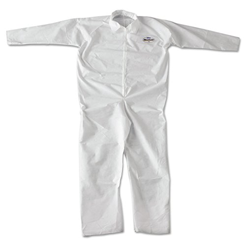KleenGuard 49005 A20 Breathable Particle-Pro Coveralls, Zip, 2X-Large, White, 24/Carton