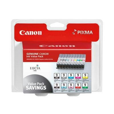 New Canon PGI-9 Value Pack Color Ink Cartridge Inkjet Matte Black Gray Cyan Magenta Yellow Red Green