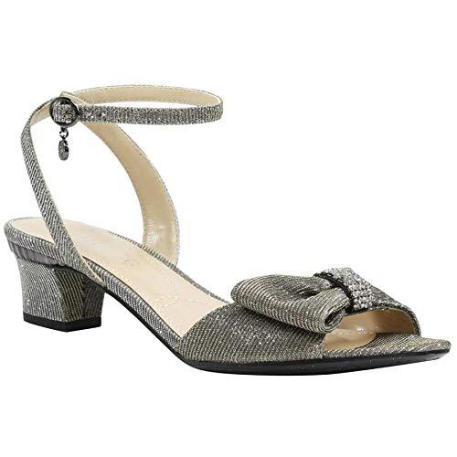 Pewter Glitter Footwear - J. Renee Womens Davet Pewter 7 M (B)