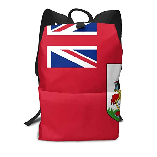 CIWO Cks Bermuda Flag Casual Backpack Zippers Travel Bag Laptop Daypack