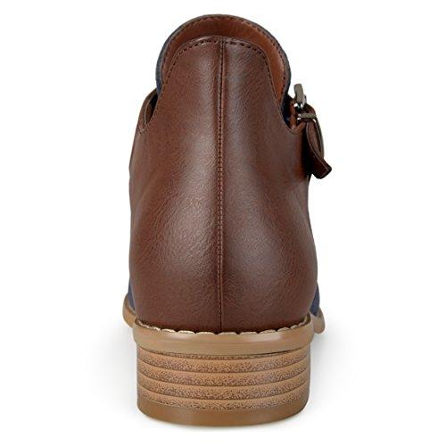 Collezione Day Bag Da Donna Con Tacco A Spillo Laterale Booties Blu Marino