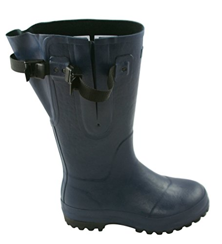 Extra Wide Calf Hard Wearing Country Wellies up to 50cm calf - Durable for Farms, Horses and Dog Walking Navy blue