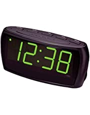 LENOXX CR85 Alarm Clock Radio Digital LED AM FM/Aux In/Large Big Numbers Sight Impaired