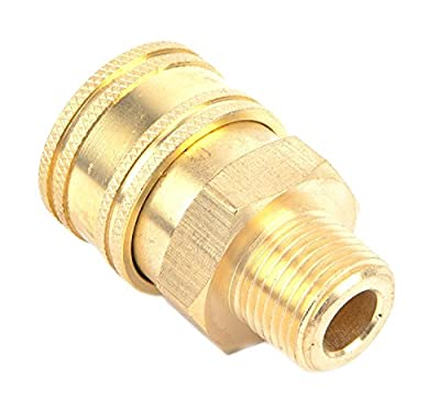 Pressure Washer Accessories, Quick Coupler Male Socket, 1/2-Inch Male NPT, 4,000 PSI