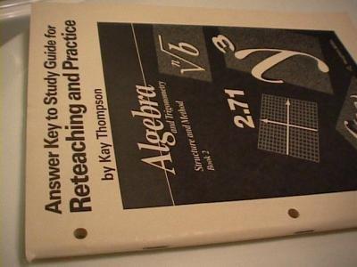 Algebra 2 trigonometry green book answers
