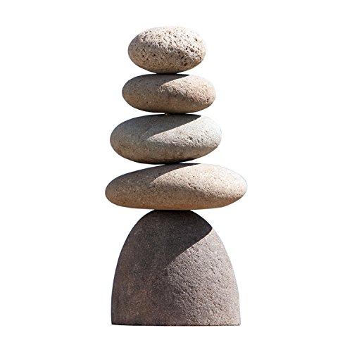 Small Giant Rock Cairn Inspirational Zen Garden Pile Stones (Ornaments Large Garden Stone)