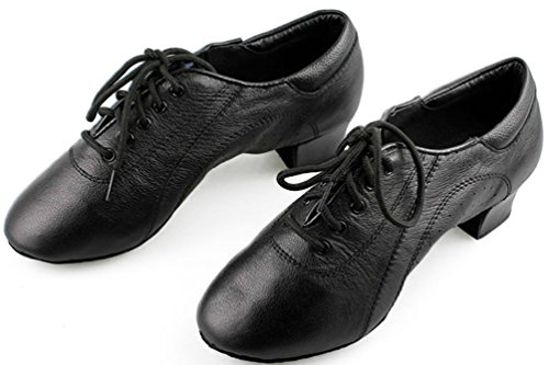 Abby 1070 Mens Wedding Party Ballroom Tango Closed Toe Leather Chacha Dance Shoes Black yNlyl