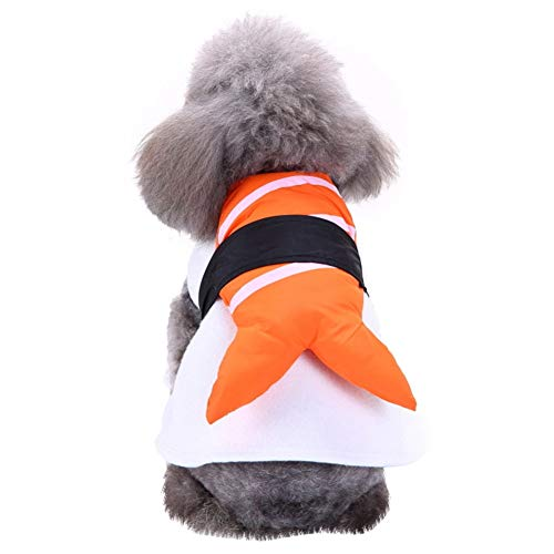 Halloween Christmas Pet Costume Dog Sushi Chef Clothes Pet Kimono Cosplay Clothes Funny Dog Cat Festival Costume(L)